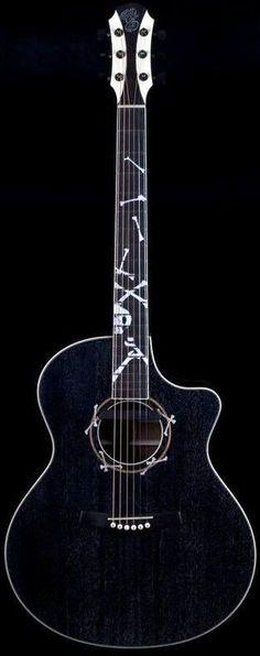 "Eggle ""Black Boneyard"" Guitar --- https://www.pinterest.com/lardyfatboy/"
