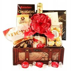 Luxurious and beautiful gift package particularly for those who know what quality is . Decorative wooden box containing top European chocolates And G. Champagne Gift Baskets, Champagne Gifts, Mumm Champagne, Decorative Wooden Boxes, Lindt Chocolate, Treasure Boxes, Gift Packaging, Chocolates, Christmas Gifts