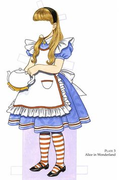 Favorite Storybook Characters Paper Doll Ӂ SAMPLE Costume 2 Ӂ Welcome to Dover Publications