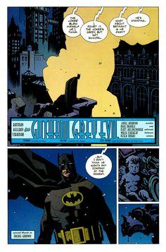 Batman/Hellboy/Starman #1 (1999)  Penciler: Mike MignolaColourist: Matt HollingsworthLetterer: Willie SchubertWriter: James Robinson