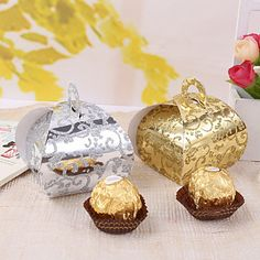 12 Piece/Set Favor Holder - Creative Card Paper Cupcake Wrapper and Boxes Elegent Frosted – USD $ 2.99