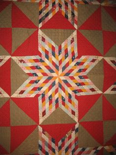Starburst and Hourglass detail, 1880. Laura Fisher Quilts.