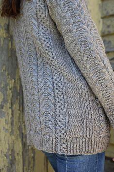 Ravelry: The Oban Cardigan pattern by Thea Colman - NiceShot Aran Knitting Patterns, Cable Knitting, Hand Knitting, Knit Cardigan Pattern, Hand Knitted Sweaters, Knitting Sweaters, Garter Stitch, Knitting Projects, Knitting Ideas