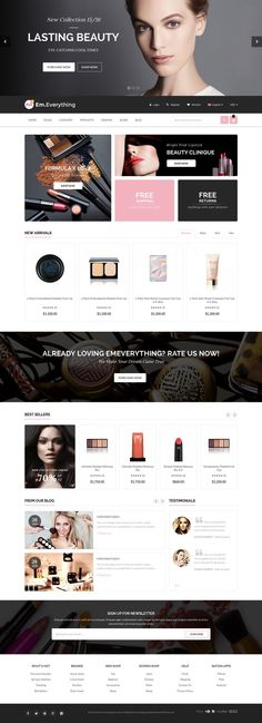 Everthing is premium Magento theme with advanced admin module. Its extremely customizable, easy to use and fully responsive. #cosmetic #beauty #fashion #store