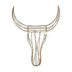 Nguni Wire Head (gold) by Safari Fusion www.safarifusion.com.au