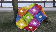 Rainbow Quilt Tutorial is a fast and easy quilt to make and would also be perfect for a QAYG - quilt as you go style of quilt pattern.