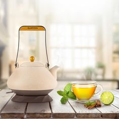 The Asuka kettle from Klarstein - This Japanese style, cordless, ceramic, 2-in-1 electric kettle and teapot seems absolutely amazing! #Home #Decor