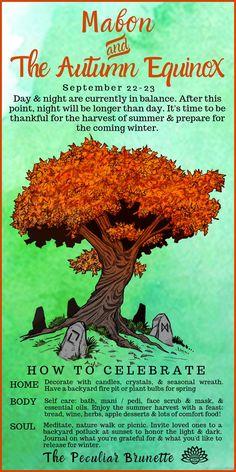 Celebrate Mabon - Home, Body, Soul . Celebrate Mabon - Home, Body, Soul . Wiccan Sabbats, Wiccan Spells, Witchcraft, Paganism, Autumnal Equinox Celebration, Autumn Equinox Ritual, Mabon, Samhain Ritual, Pagan Festivals