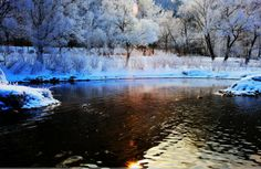 Benxi Liaoning Beautiful winter scenery ...