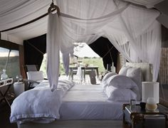 Just the kind of place I want to spend my wedding night. || Singita Mara River Tented Camp, Serengeti Tanzania