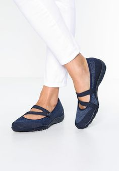 ae95b4a8638009 Skechers breathe-easy lucky lady - ballet pumps navy women shoes ankle  strap dark blue