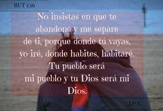 JESÚS PAN YVIDA: RUT 1:16