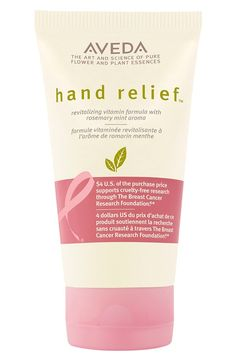 Hand relief with a purpose. With every sale of this product, Aveda donates $4 to breast cancer research.