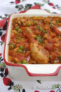 Mediteranska piletina sa graškom on http://palachinkablog.com/sr