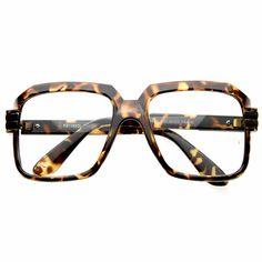 Old School Hip Hop Run DMC Style Square Vintage Square Glasses 2981