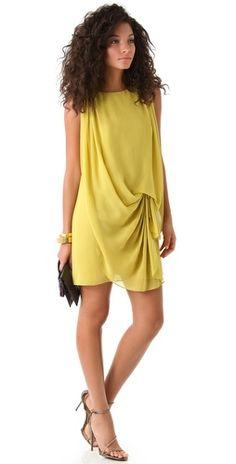 Halston Heritage Sleeveless Drape Front Dress #r29summerstyle