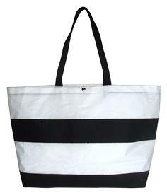 976856750073 HAYDEN Reis Bags----super cute beach totes Black White Stripes