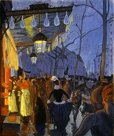 Louis Anquetin's The Avenue de Clichy at Five o'clock, 1887. Description from pinterest.com. I searched for this on bing.com/images