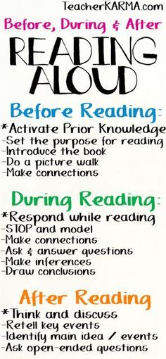 FREE Reading Strategies & Printables What do your students do with their brains while they are reading? I hope the answer isn't nothing! LOL!! For some great reading strategies over what your kiddos need to be thinking about... Before Reading During Reading After Reading Please click here to get your FREE reading strategies and printables. before during and after reading making connections prior knowledge reading strategies responding to text teacherkarma.com