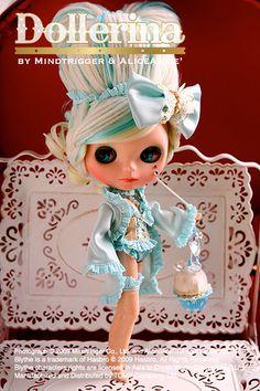 Mademoiselle Mint Sorbet custom Blythe doll by Mind Trigger