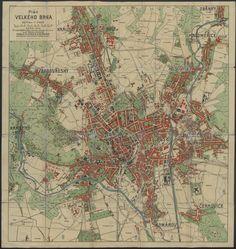Plán velkého Brna, 1928 // City plan of Brno, 1928