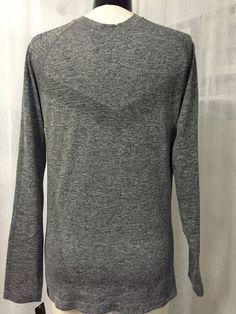 Reebok Gray Men's Sport Performance Long Sleeve Shirt Size Medium NWT $58 #Reebok #ShirtsTops