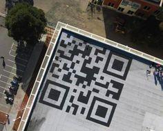 Facebook e il QRCODE sul tetto