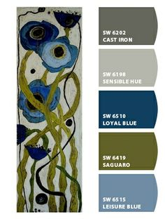 Paint colors from Chip It! by Sherwin-Williams. TUSINSKI SHADED BLUE POPPIES. ChipCard by Reni Apostolova.