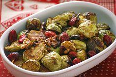 Calendario de Adviento. Día 12: Coles de bruselas especiadas asadas con frutos secos { Felices y sanas fiestas con Ventanas Verdes}