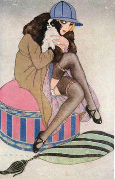 Art Deco Risque Female Signed Lorenzi Femme Modernes 1920s PC | eBay