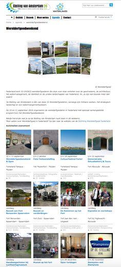 Programma Werelderfgoedweekend op de site van de Stelling van Amsterdam