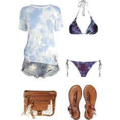 Beach wear 483 by adgubbe on Polyvore featuring polyvore, fashion, style, Karen Millen, We Are Handsome, One Teaspoon and American Eagle Outfitters