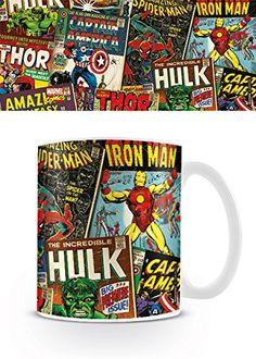 From 7.99 Pyramid International 276523r Marvel Boxed Mug Retro Covers - White