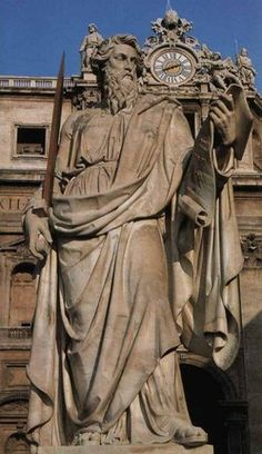 St. Paul, in front of St. Peter's Basilica in Vatican City