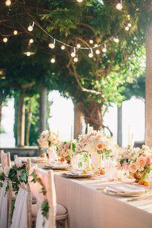 Intimate European garden wedding