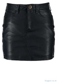 GRETA Leather skirt dulwich plain - Pepe Jeans Leather Fashion Skirts 83020 : Dress & Skirts for Women