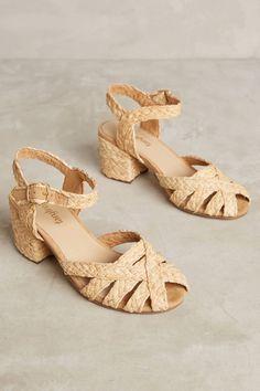 competitive price 6729d d7b1b Farylrobin Raffia Block Heels