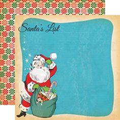 Papper Carta Bella - A Very Merry Christmas - Santa's List