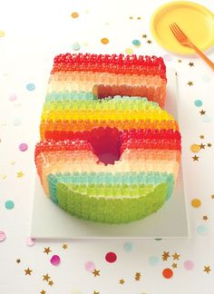 "Number Gummy Bear Cake from ""Celebrate Everything!"" 