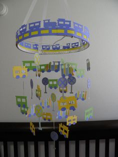 Train Set Paper Mobile by whimsicalaccents on Etsy, $55.00