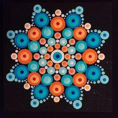 Orange & Turquoise Mandala