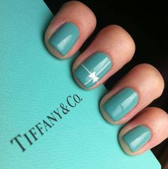 Tiffany Blue nails!!!! Okay girls, who is up for this?