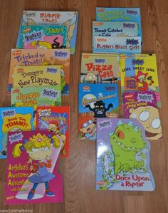 Rugrats Picture Books lot of 16, paperback, Nickelodeon, Scholastic, Hardback