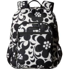 Vera Bradley Lighten Up Campus Backpack (Night & Day) Backpack Bags ($55) ❤ liked on Polyvore featuring bags, backpacks, clear, shoulder strap backpack, vera bradley bags, clear bags, faux-leather backpack and vera bradley