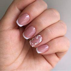 Homecoming Nails, Prom Nails, Wedding Nails, Long Nails, French Nail Designs, Beautiful Nail Designs, French Acrylic Nails, French Nails, Manicure And Pedicure