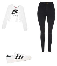 """""""Untitled #29"""" by umusamira on Polyvore featuring NIKE, Jane Norman and adidas Originals"""