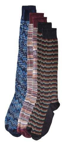 A triple treat.   Feast eyes on the delicious design of #Missoni #socks.  #men #accessory #accessories