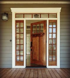 Walnut stain on all the french doors
