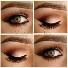 Lush soft eye makeup and wedding makeup....Love the look ♥