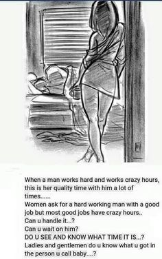 This is so true.A hard working man will go the extra mile to provide not only necessity but also the special extras. Count yourself blessed if you have found a man like this! Black Love Quotes, Black Love Art, Romantic Love Quotes, Husband Quotes, Boyfriend Quotes, Men Quotes, Life Quotes, Daily Quotes, Fact Quotes